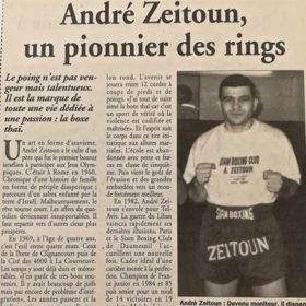 André Zeitoun Pionnier des rings