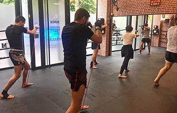 entrainement boxe thai au Team Zeitoun