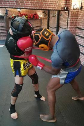 combat muay thai entrainement