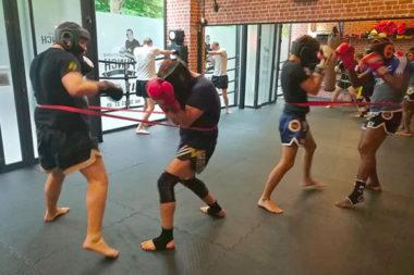 boxe thai sparing